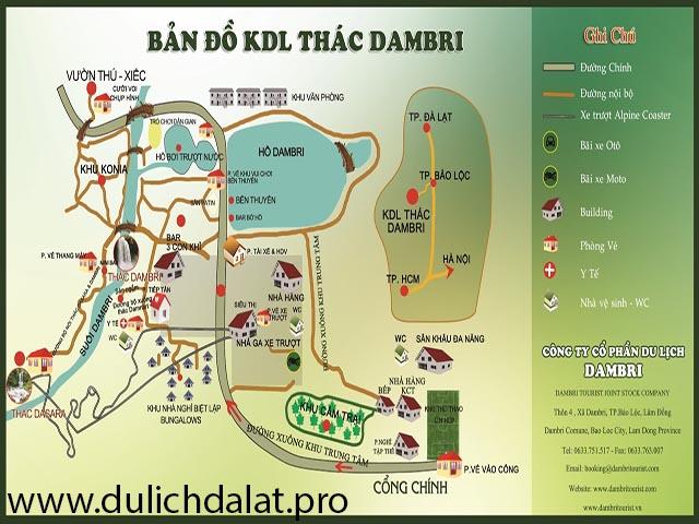 Bản đồ thác Dambri