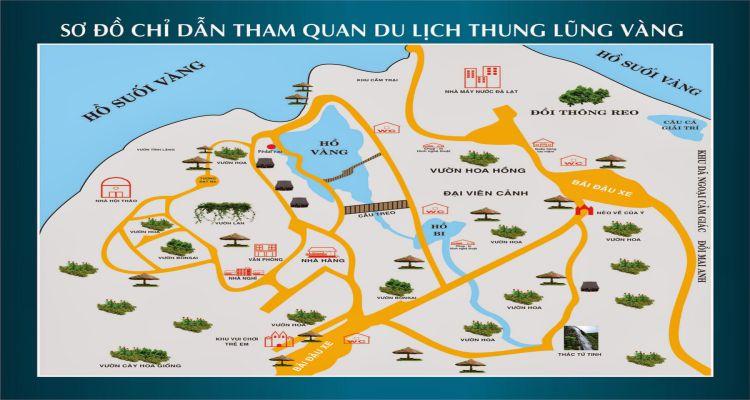 Bản đồ trong thung lũng vàng
