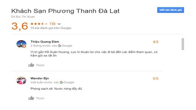 Đánh Giá Khách Sạn Phương Thanh Đà Lạt