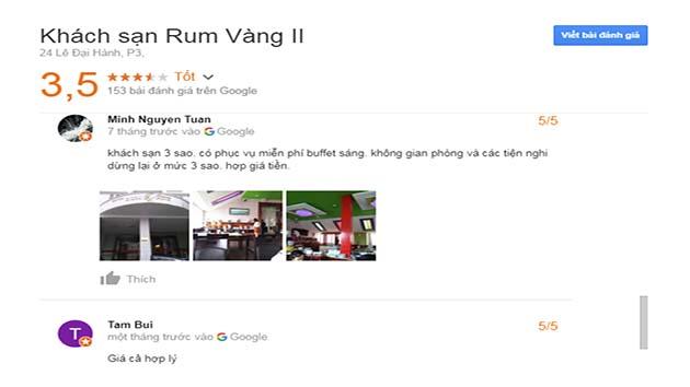 Đánh Giá Khách Sạn Rum Vàng 2