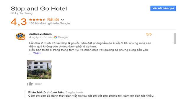 Đánh Giá Khách Sạn Stop And go Doutique