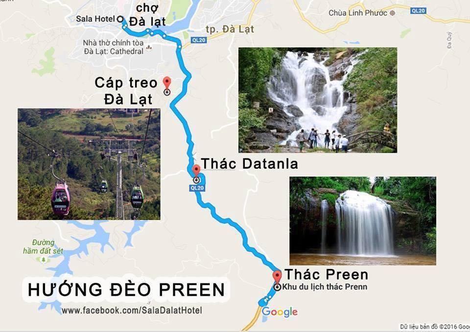 Bản đồ du lịch đà lạt hướng Đèo Prenn