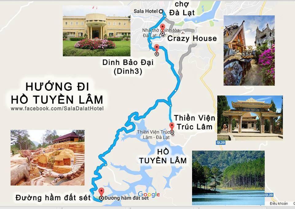 Bản đồ đà lạt hướng Hồ Tuyền Lâm