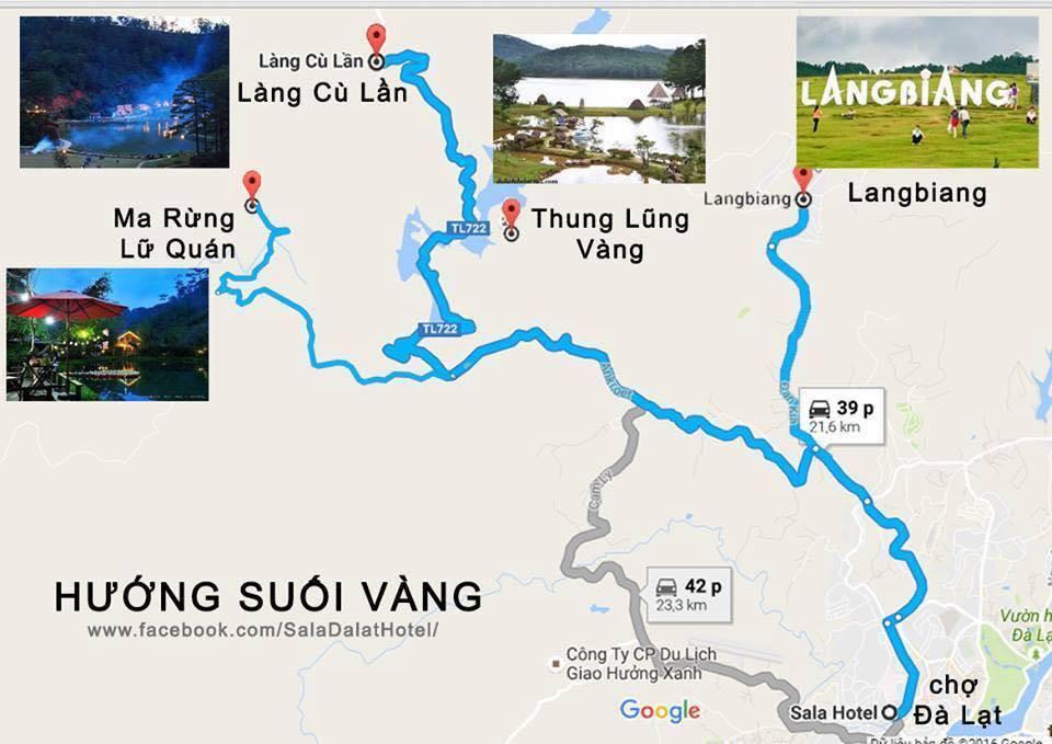Bản đồ Đà Lạt hướng Suối Vàng