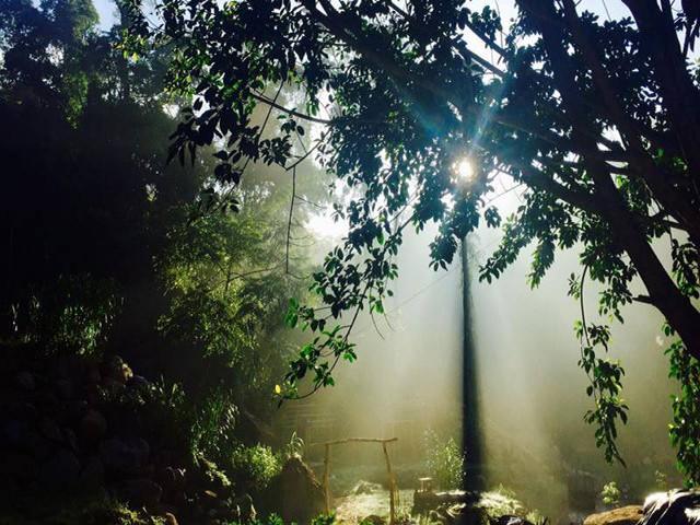 Sáng sớm ở Hoa Sơn Điền Trang