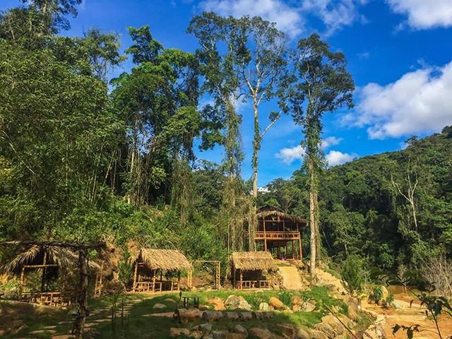 Nhà gỗ ở Hoa Sơn Điền Trang