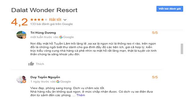 Đánh Giá Đà Lạt Wonder Resort