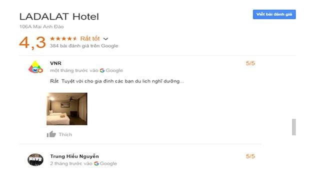 Đánh Giá Khách Sạn LADALAT
