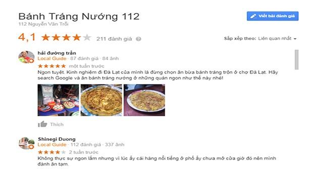 Đánh Giá Bánh Tráng Nướng 112 Nguyễn Văn Trỗi