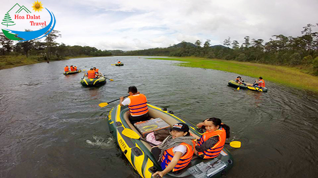 Chèo Thuyền Kayak Tại Đà Lạt