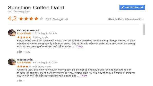 Đánh Giá Sunshine Coffee Đà Lạt