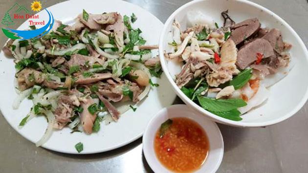 Review Bánh Ướt Lòng Gà Trang Đà Lạt