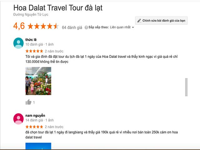 review công ty du lịch đà lạt