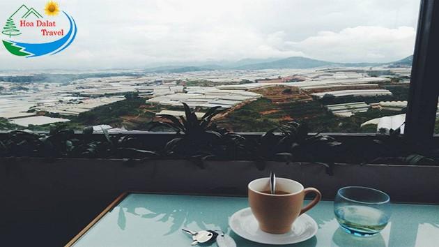Các loại đồ uống tại cà phê Panorama Đà Lạt