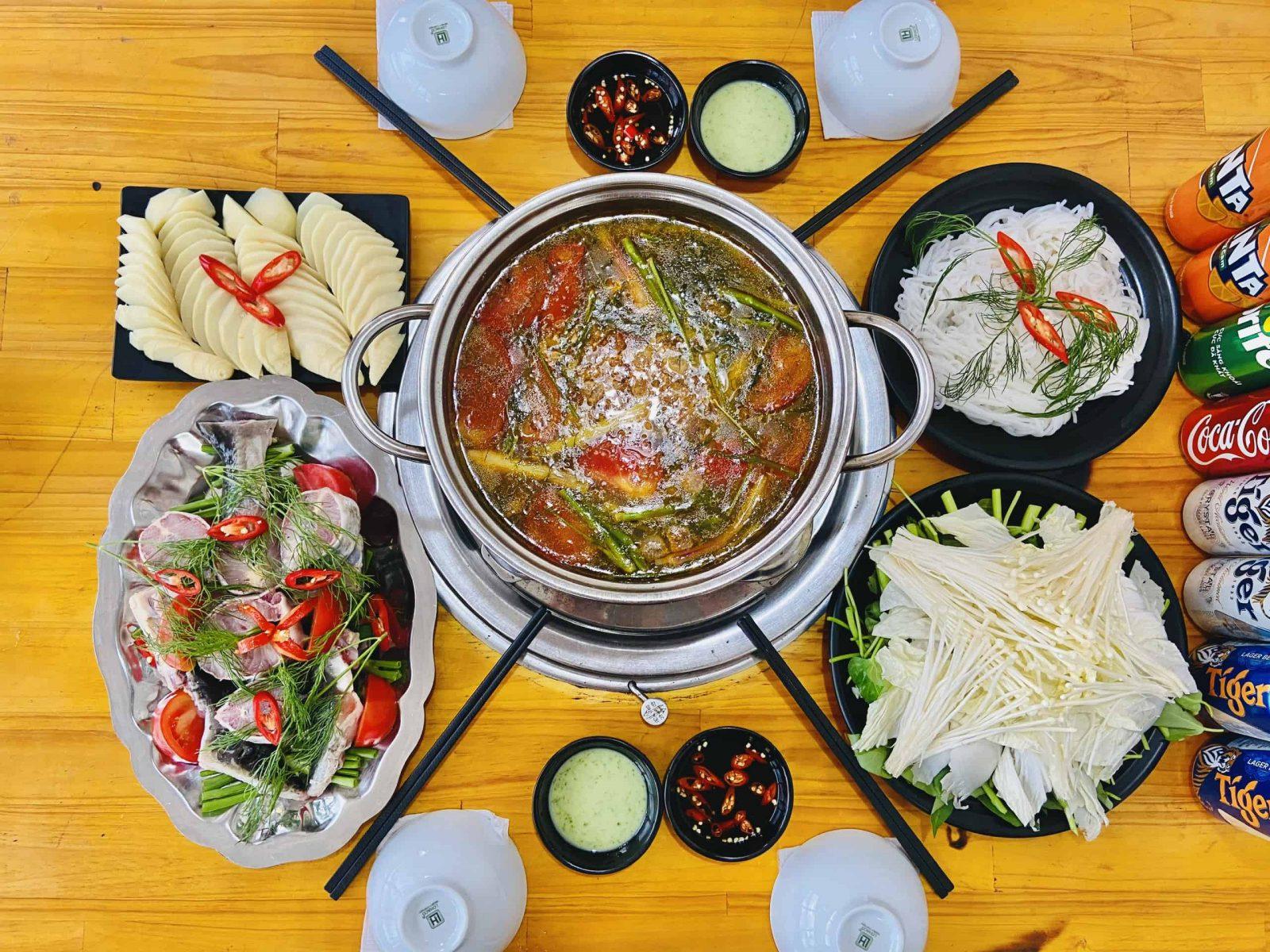 Món lẩu cá tầm ở Đà Lạt